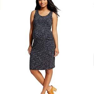 Liz Lange Women's Maternity Black White Tank Dress